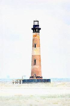 Dale Powell - Morris Island Lighthouse Watercolor