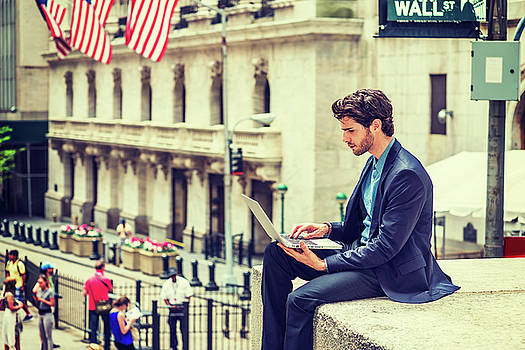 Alexander Image - Young Businessman working on Wall Street in New York