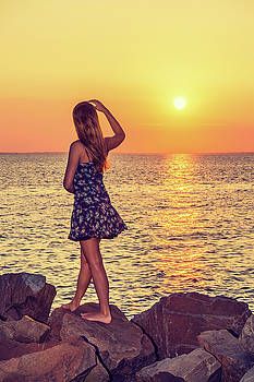 Alexander Image - Young Woman Watching Sunset