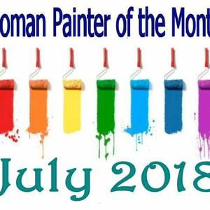 Women Painter of the month - JULY 2018 - Only artworks accepted into the group Art Competition